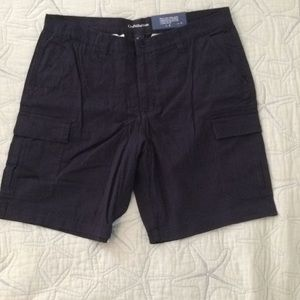 Mens Navy Cargo Shorts